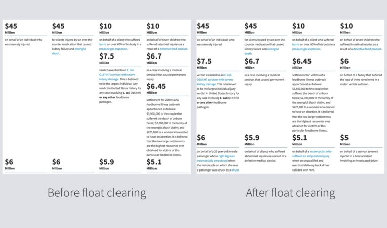 Float clearing in Bootstrap Grid