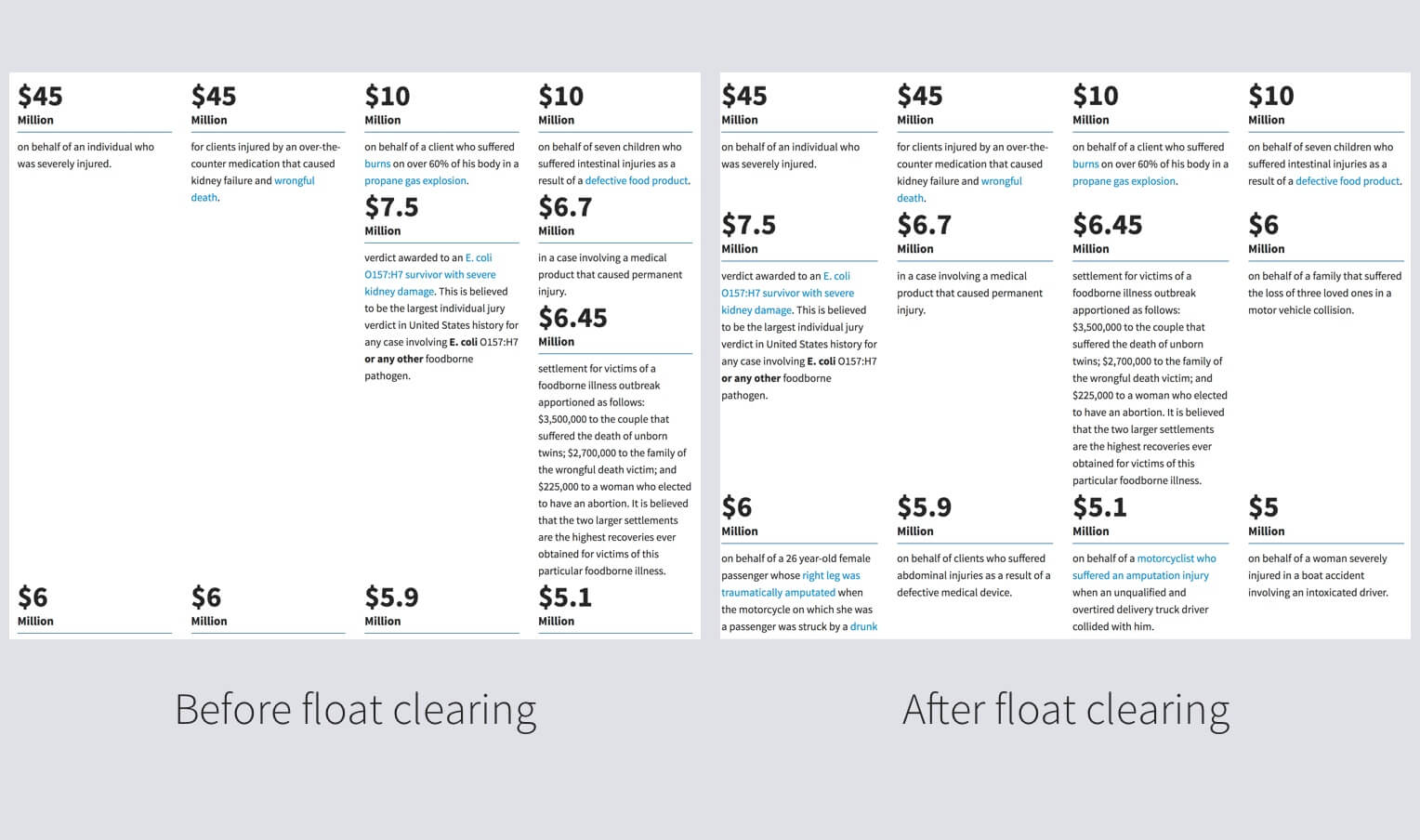 Float clearing in bootstrap grid bill erickson - Div float clear ...