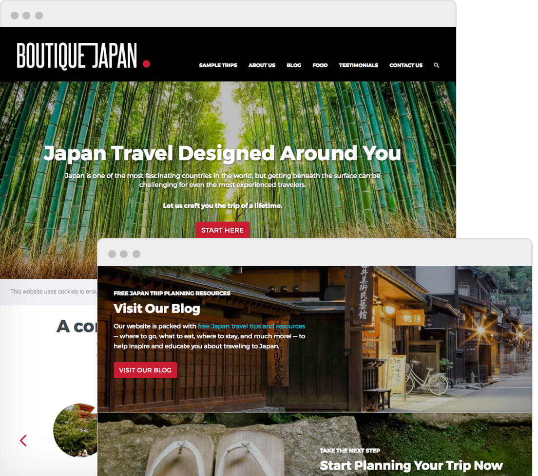 Screenshot of Boutique Japan