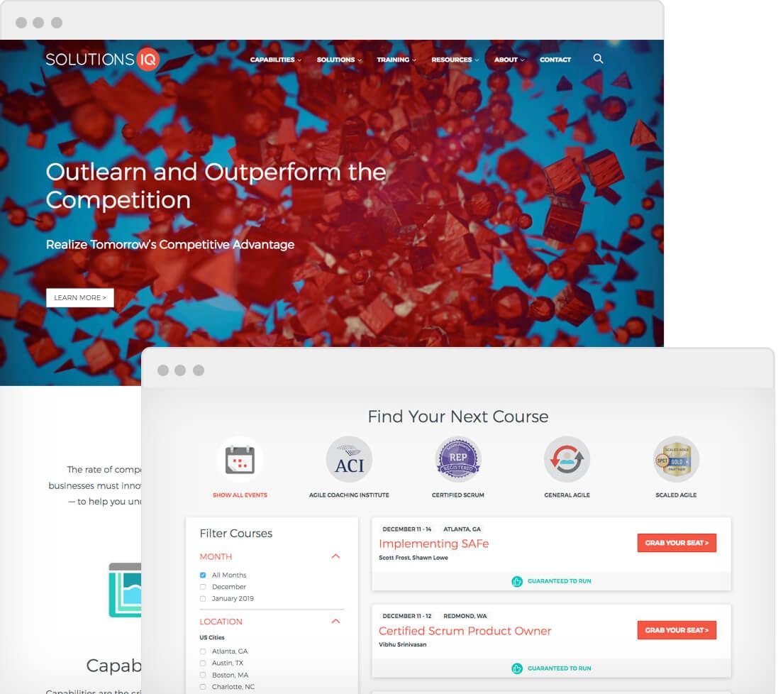 Screenshot of SolutionsIQ