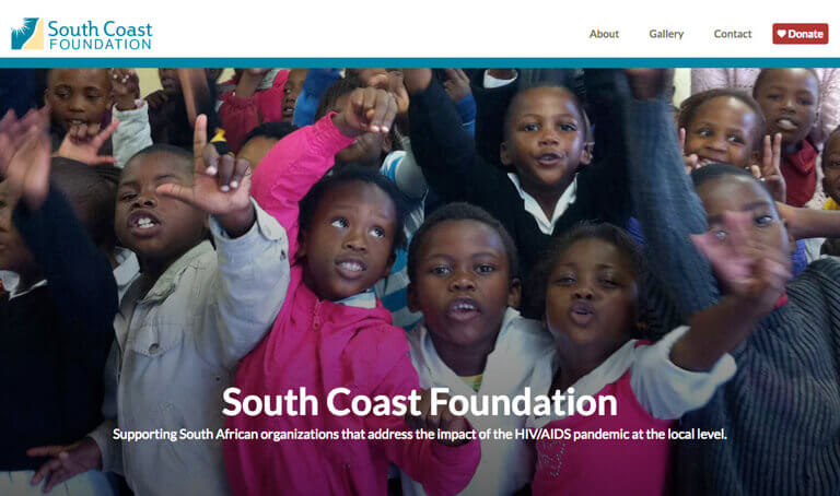 Screenshot of South Coast Foundation