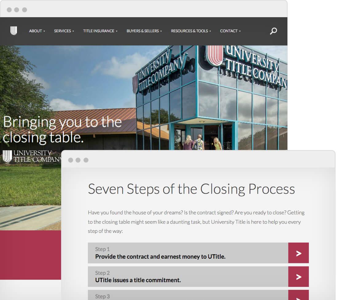 Screenshot of University Title