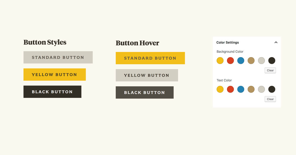 Gutenberg Color Palette And Button Styling Bill Erickson